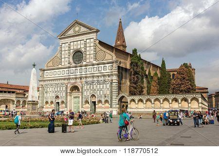 Florence, Italy - September 16, 2015: Basilica of Santa Maria Novella in Florence, Italy.