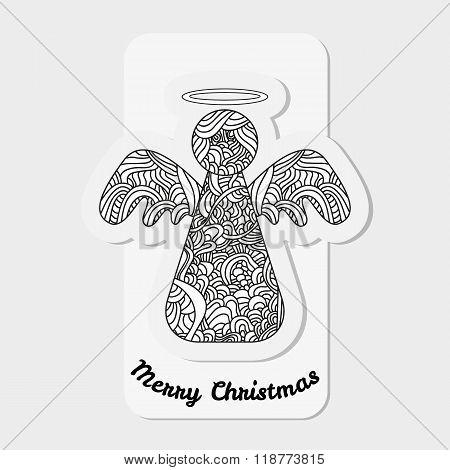 Toys On Christmas Tree - Angel. Christmas Collection.