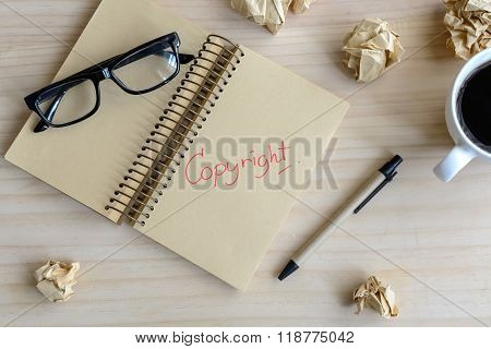 Copyright Document Folder And Desk Office