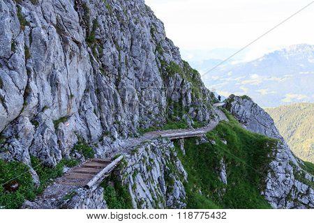 View towards the path to the Watzmannhaus in Berchtesgaden
