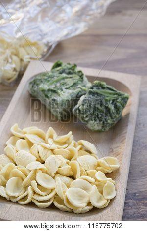 Fresh Orecchiette With Frozen Broccoli Rabe