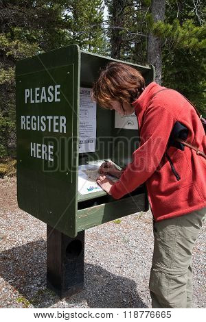 Self registration at a campground