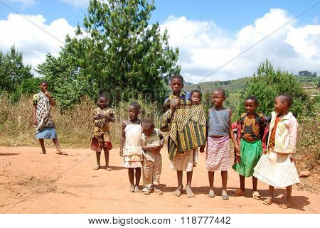 The Children Of Kilolo Mountain In Tanzania - Africa