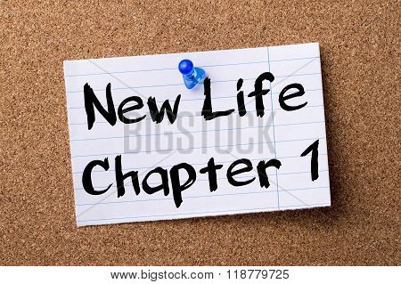 New Life Chapter 1 - Teared Note Paper Pinned On Bulletin Board