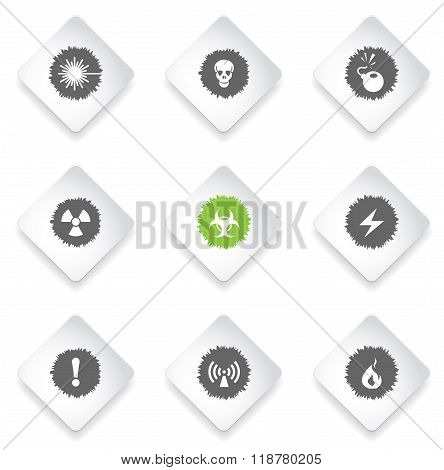 Hazard Sign Icons