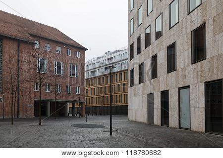 Deserted Street In Munich