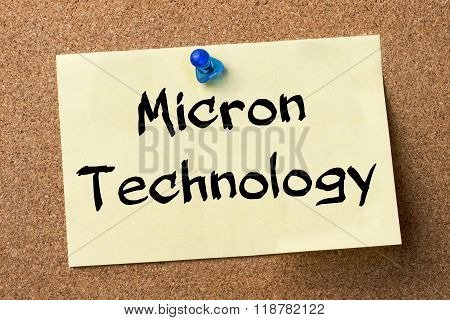Micron Technology - Adhesive Label Pinned On Bulletin Board