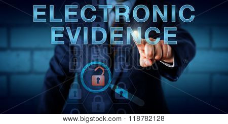 Forensics Expert Pressing Electronic Evidence