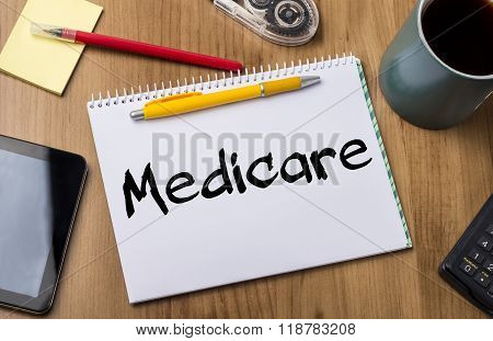 Medicare - Note Pad With Text