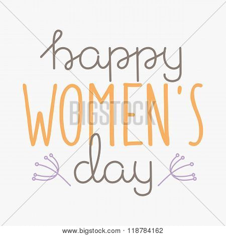 International Womens Day text 8 March for celebration greeting card design vector