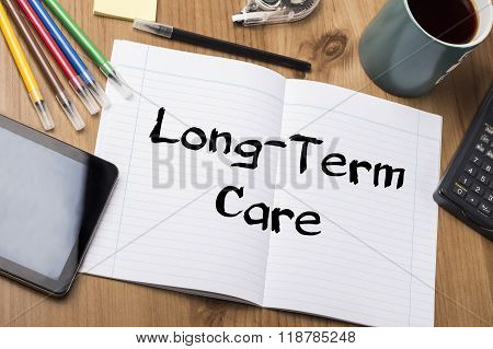 Long-term Care - Note Pad With Text