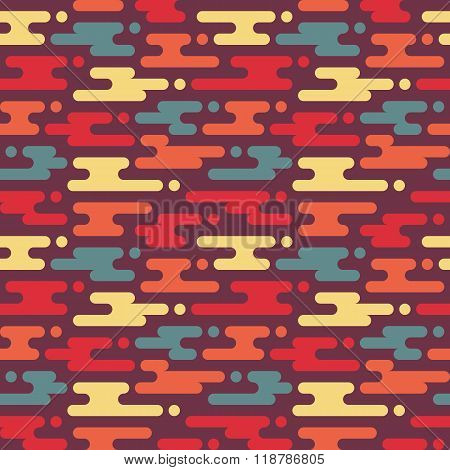 Abstract geometric background - seamless vector pattern in flat style design.
