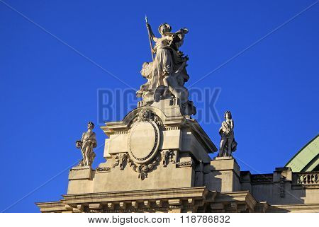 Paris, France -18 December 2011: Architectural Details Of Grand Palais Des Champs-elysees In Paris,