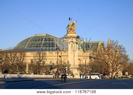 Paris, France -18 December 2011: Grand Palais Des Champs-elysees In Paris, France
