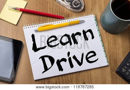 Learn Drive - Note Pad With Text