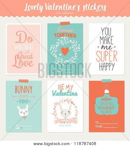 Collection Of 6 Valentines Day Gift Tags