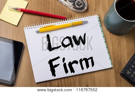 Law Firm - Note Pad With Text