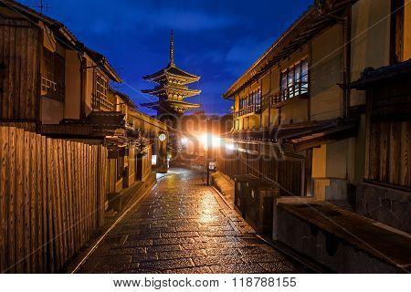 Yasaka Pagoda And Japan Old City, Kyoto