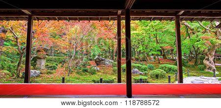 Autumn Garden Scenic At Enkoji Temple, Kyoto