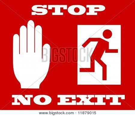 stop signal no exit