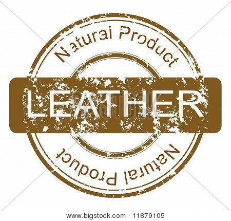 "sello ""producto de cuero natural"""