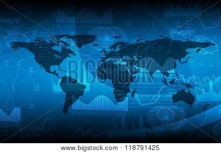 Background with world map