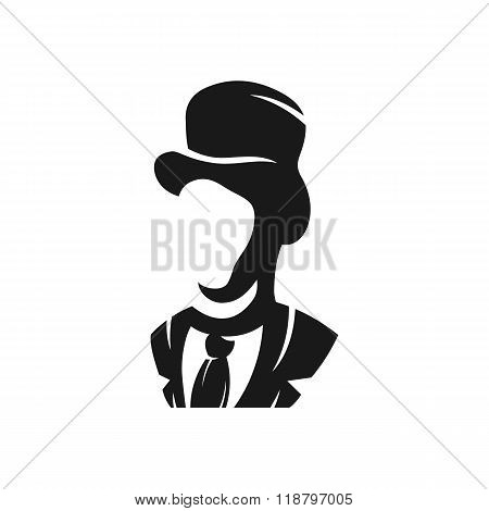 Aristocrat in a hat logo