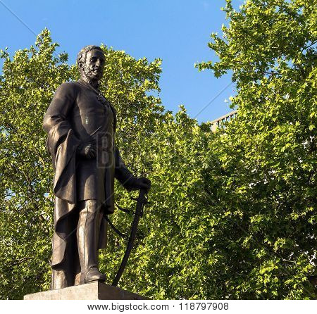 Sculpture Of Major-general Sir Henry Havelock On Trafalgar Square , London, 2015