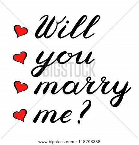 Will you marry me lettering. Cute handwriting.