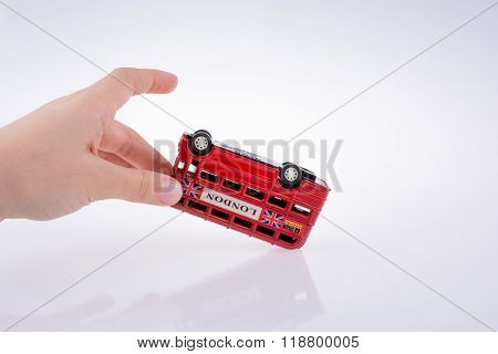 London Bus And Hand