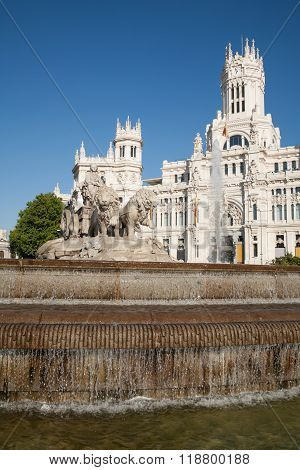Cibeles Sculpture Fountain In Madrid