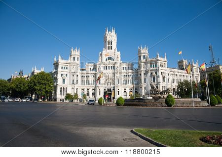 Cibeles Square In Madrid