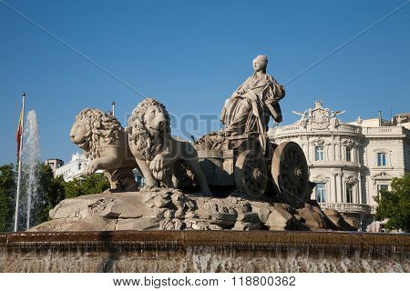 Goddess Cibeles Sculpture In Madrid