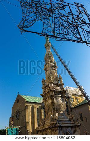 Obelisk In  Center Of Naples