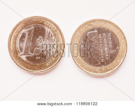 Dutch 1 Euro Coin Vintage