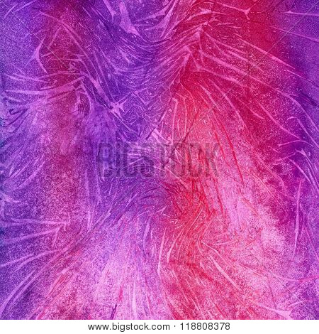 Abstract seamless art hand paint watercolor aquarelle wash drawing arty grunge on violet and magenta background square picture