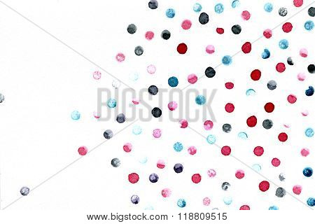 Abstract Multicolored Blobs On White