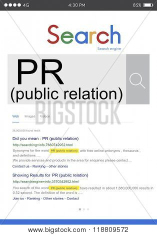 Public Relation PR Information Branding Advertising Concept