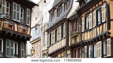 Colored Facades In Colmar