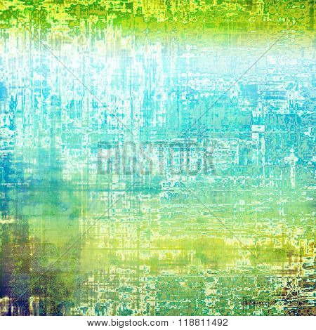 Old Texture. With different color patterns: yellow (beige); green; blue; white; cyan
