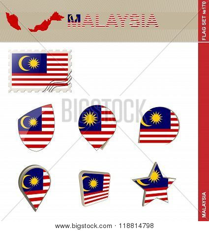 Malaysia Flag Set, Flag Set #170