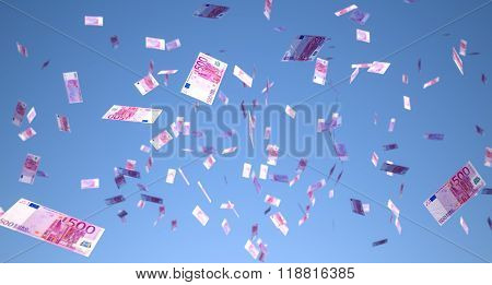 a lot of money falling from the sky