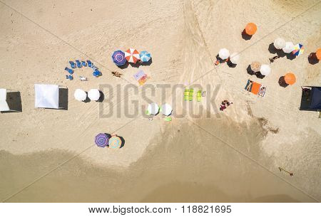 Top view of Summer Beach in Sao Sebastiao, Sao Paulo, Brazil
