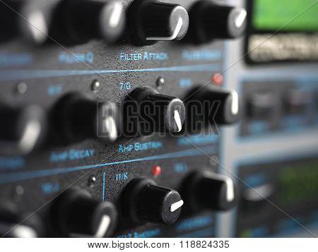 Modern Synthesizer Closeup