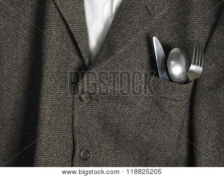 Coat With Cutlery