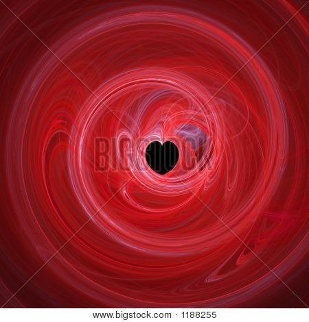 Red Heart Hole In Twirl