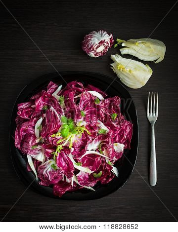 Easy Diet Chicory Salad With Fennel