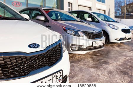 Vehicles Kia Near The Office Of Official Dealer