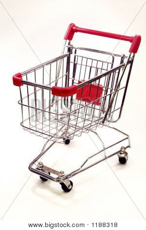 Shopping Trolley On White Background 9