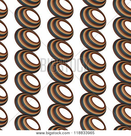Abstract Seamless Geometric Background From Ellipses